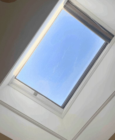 Skylight leaking from the inside.