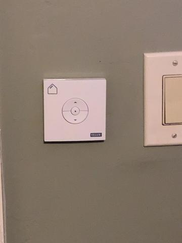 Wall mounted solar skylight remote control.