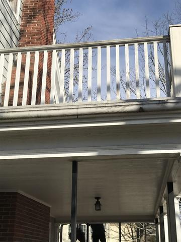 Rotting wooden gutters can cause debris build up and water damage into the home.