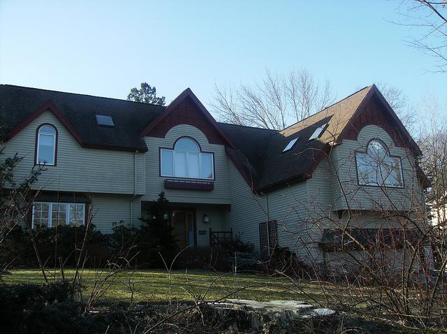 We installed the new shingle roof.