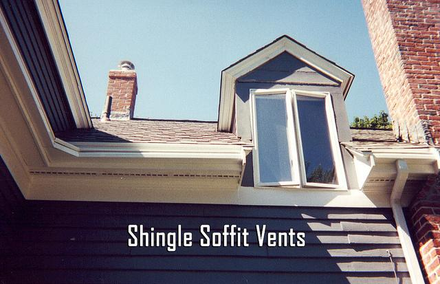 Here we installed new soffit vents on this shingle roof.