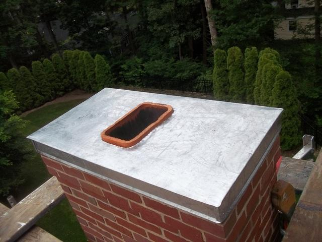 We installed an aluminum chimney crown to protect the home from any unwanted guests.