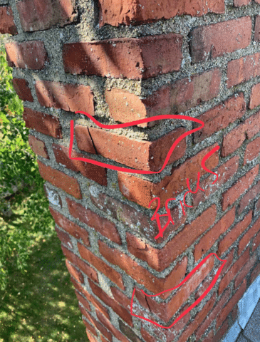 The risks of cracked bricks on a chimney mortar include: water leaks, animal entrance, and complete deterioration to the structure of your chimney.