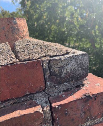 A cracked chimney crown is dangerous because it provides an entrance for water into your chimney and home. Further ignored, it can lead to complete destruction of your chimney.