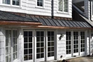 gutter installation by newton centre roofing contractor
