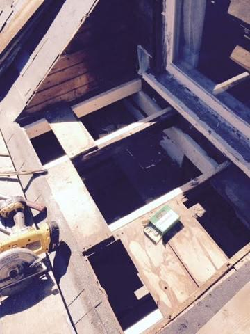 Our craftsmen have begun to nail down the new wooden boards which will act as the foundation for the new project.