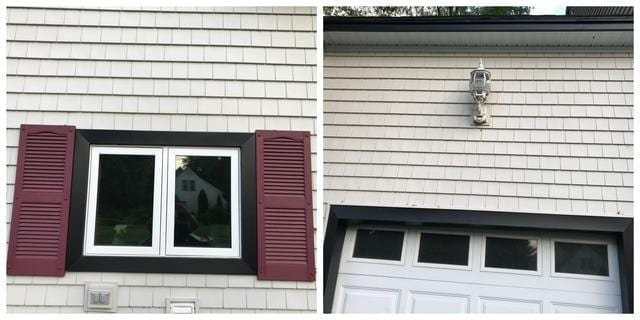 These images show a couple close up shots so you can really see the detail in the siding.