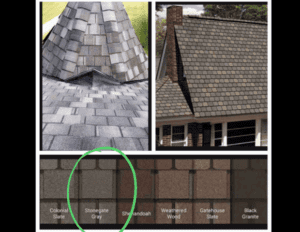 Choosing materials for a roof replacement.