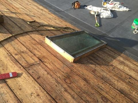The sections around the skylight have also been carefully removed, which will allow the crew to ensure that the area is watertight after.