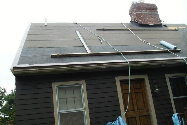 Our crew has finished installing the protective underlayments, all that's left is the installation of the shingles.