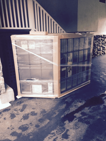 The new window has arrived, and once the old window has been removed the installation can begin.