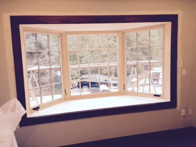 The new window has been installed and this picture shows what the customers will get to see through their new window.