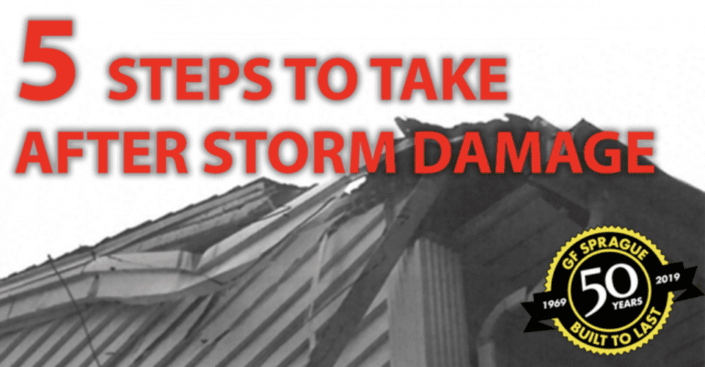 5 steps to take after storm damage boston