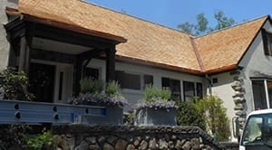 Wood shingle roof replacement.