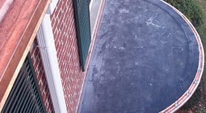 Rubber flat roof installation.