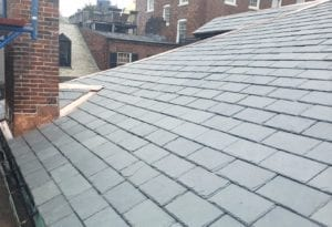 Slate tile roof replacement.