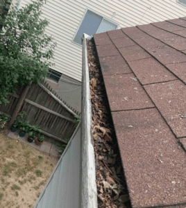 Clogged gutters vulnerable to snowstorm damage