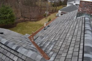 Asphalt shingle roof replacement by roofing company in newton, Wellesley, Brookline, and Needham.