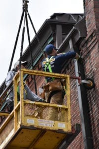 Historical restoration work by expert roofing company.