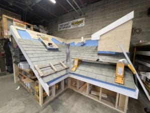 Mock-up roof for training of our craftsmen at a local roofing company.